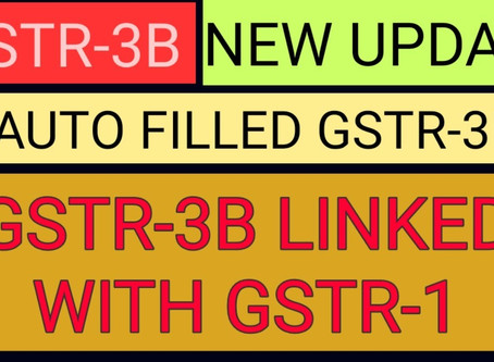 Auto Populated Output Liability in GSTR-3b from Filed GSTR-1 form