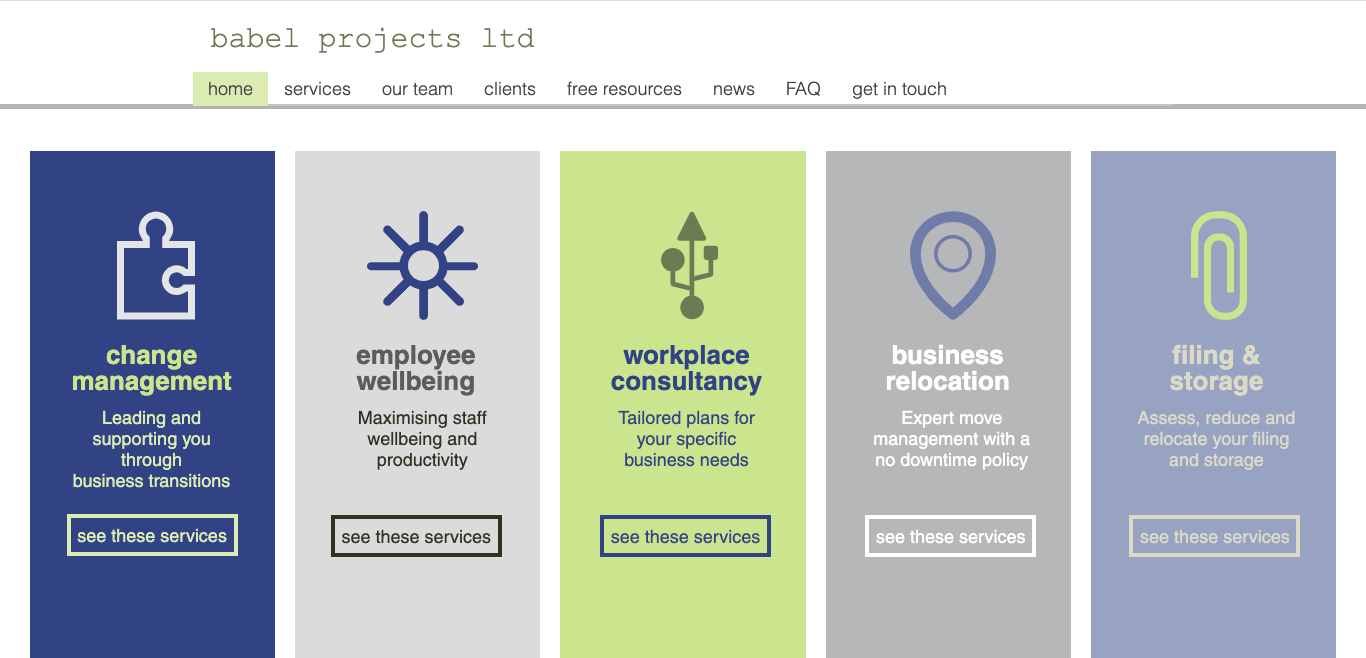 Babel Projects Services designed by Emma