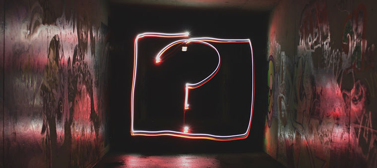 Where is the love neon question mark light