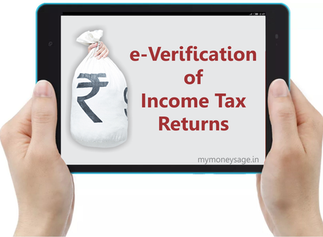Income Tax Circular:- One-time relaxation for Verification of Income tax-returns