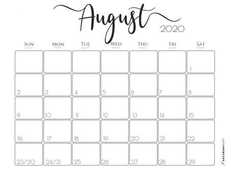 Taxation Calendar for August-2020