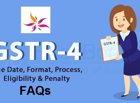 FAQs on Filing Form GSTR-4 (Annual Return) (for FY 2019-20 Onward)