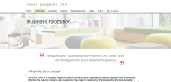 Babel Projects Services header designed