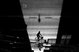 """""""Tightrope cyclist"""" © Mark Wyss"""