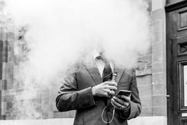 """""""Burning Businessman"""" © Mark Wyss"""