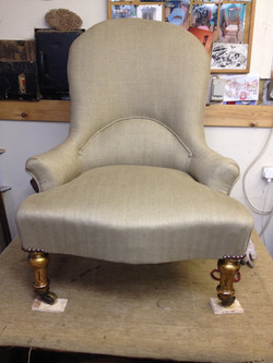 Victorian Iron Back Chair