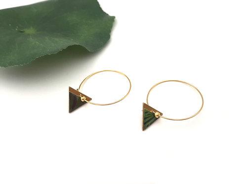 Boucles d'oreilles créoles graphiques triangle