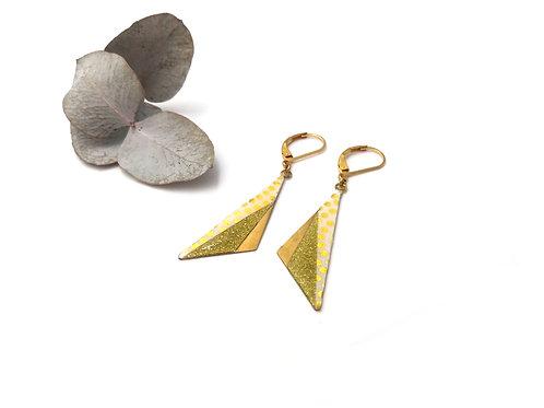 Boucles d'oreilles triangles asymétriques