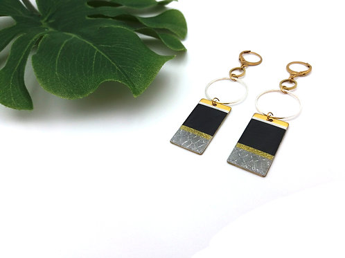 Boucles d'oreilles rectangle ultra chic