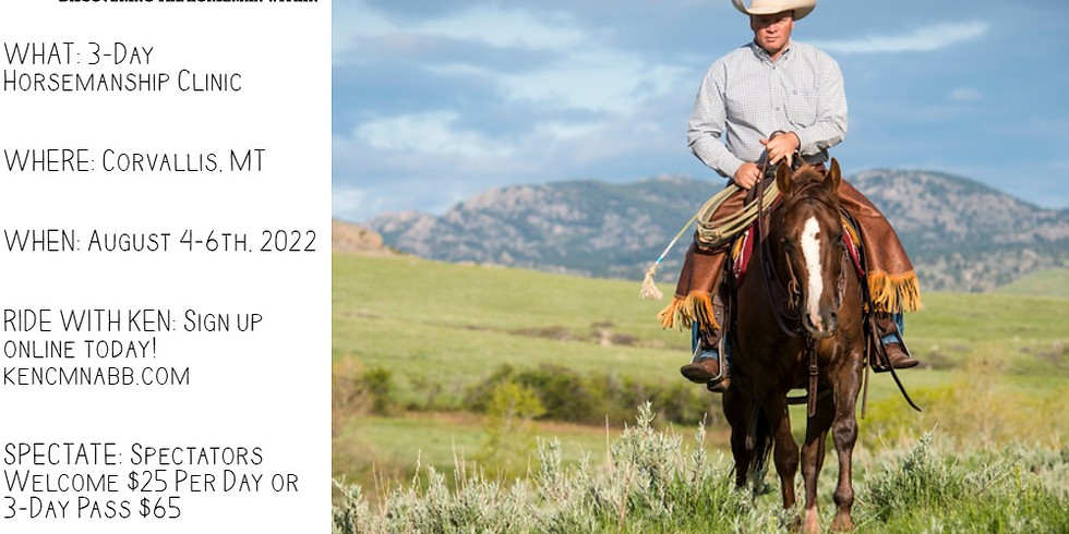 3 Day Ken McNabb Horsemanship Clinic