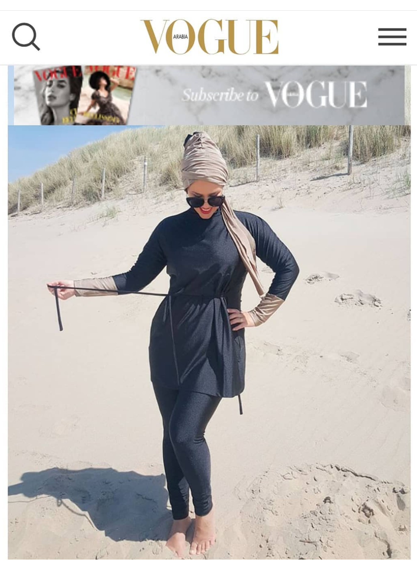 burkini , modest swimwear Vogue Arabia_e