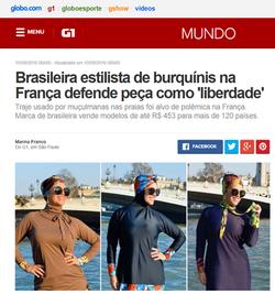 Brasileira estilista de burquínis na