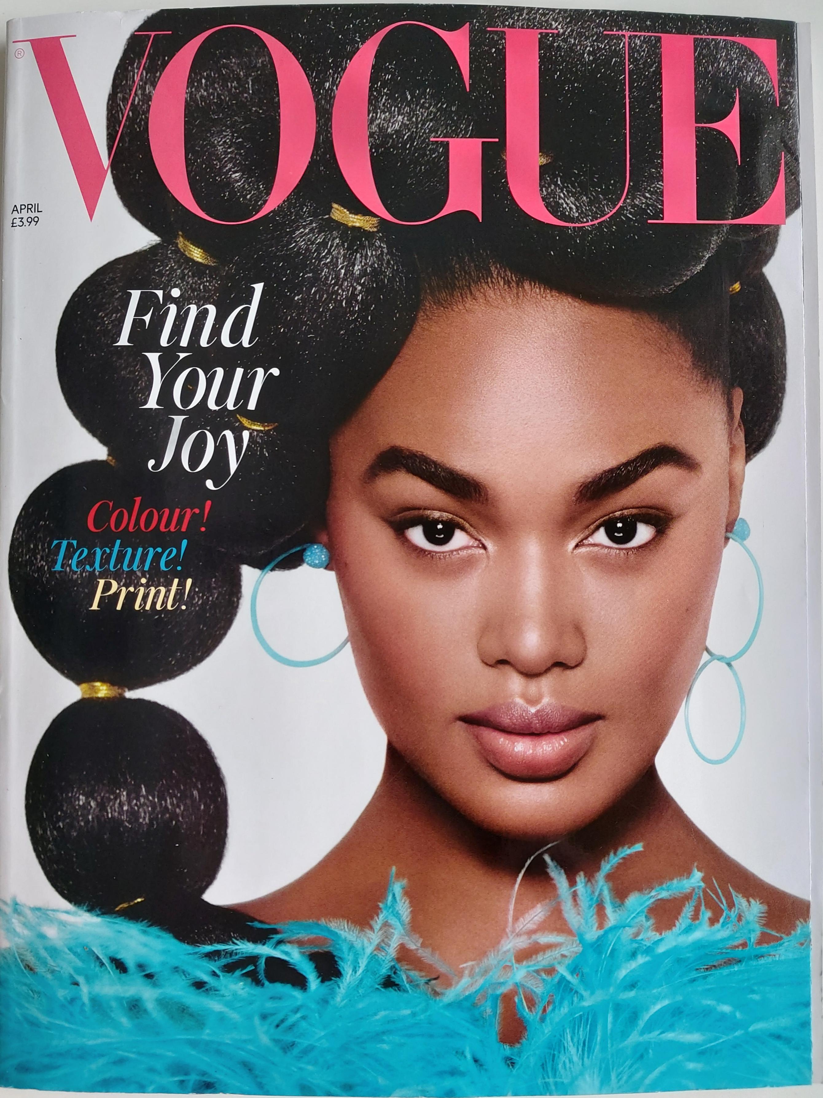 Cover Britsh Vogue Magazine - MADAMME BK Paris - Designer Profile  April 2021 Issue