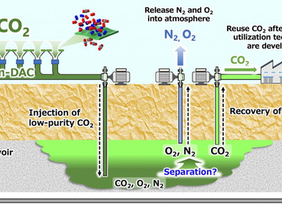 Geological Storage of CO2 with membrane-based Direct Air Capture to form Carbon Sinks