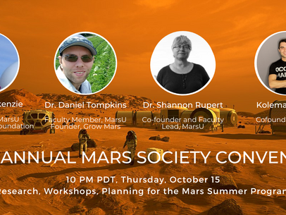 Mars University Invited to Speak on Panel during Mars Society Convention