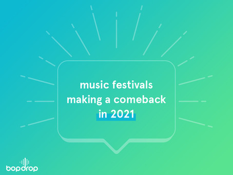 Music Festivals Making a Comeback in 2021