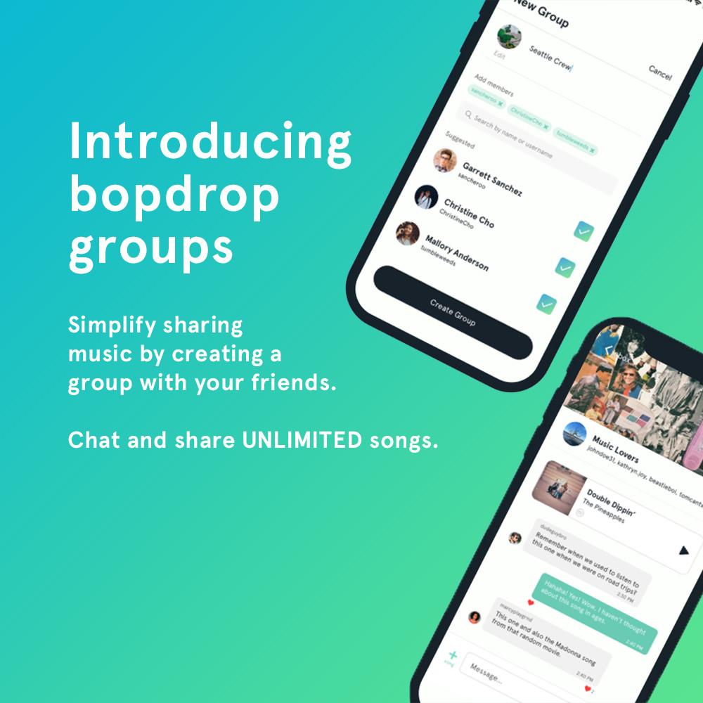 bopdrop groups app update screenshot