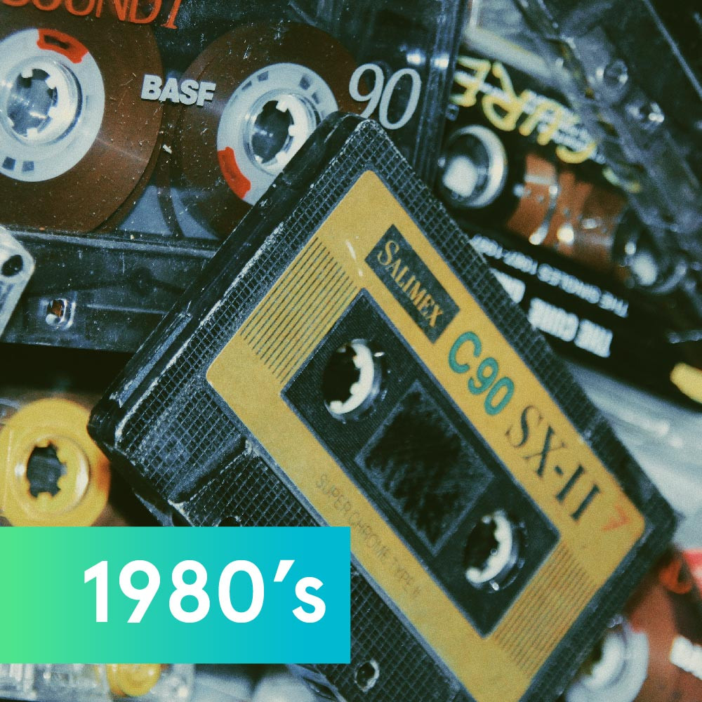 Mix tapes representing music in the '80s
