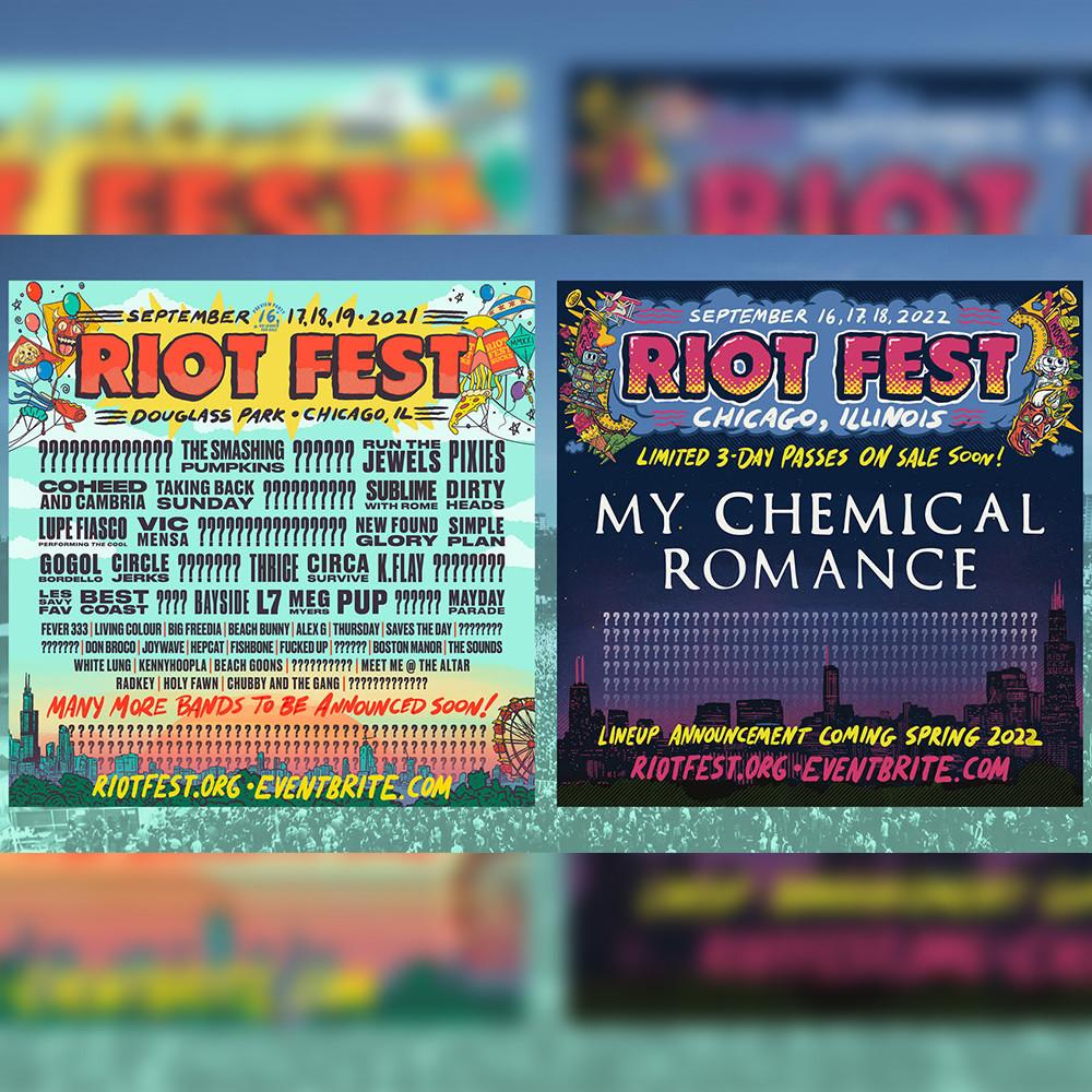 Riot Fest 2021 lineup poster