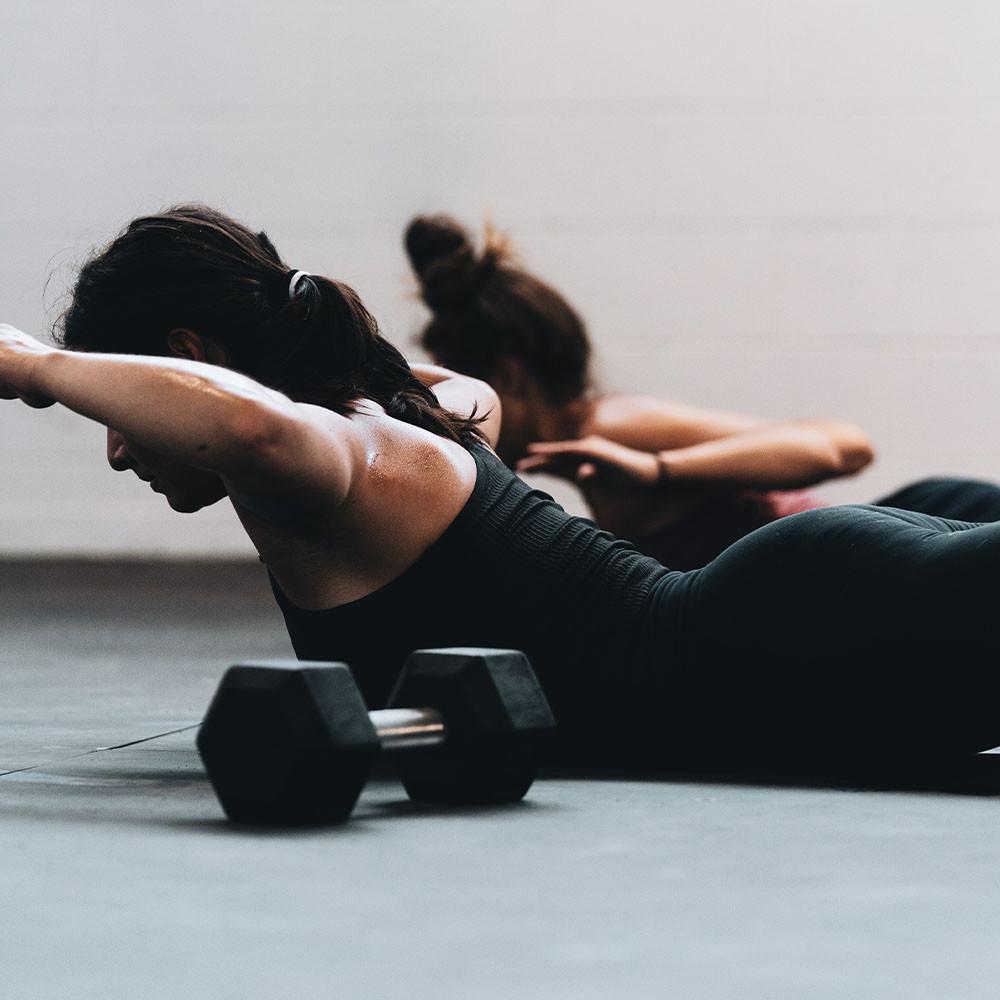Women in a workout class