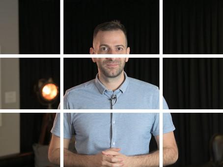 טיפים מקורס צילום וידאו - חוק השלישים