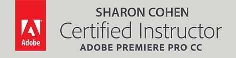 Certified_Instructor_Premiere_Pro_CC מרצה מוסמך עריכת וידאו פרימייר פרו קורס