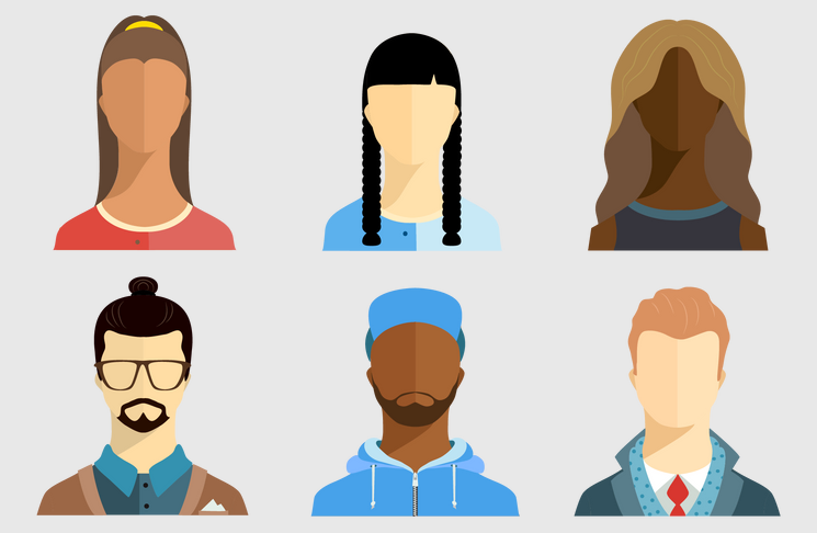 Various character avatars showing how to act
