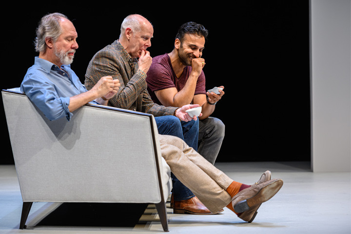 Soulpepper actors exhibit how to act in the play Art