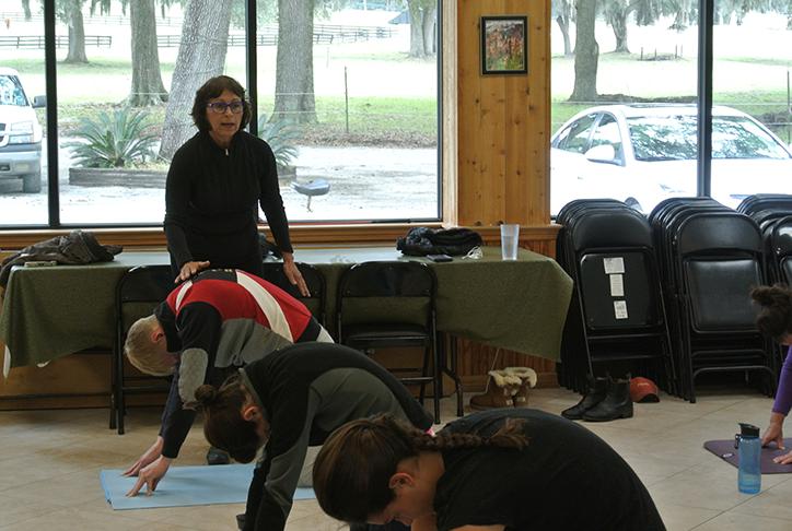Janice teaching mat class
