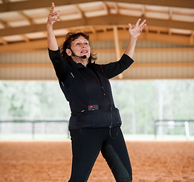 Janice Dulak is a motivating riding trainer