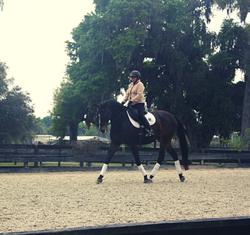 Janice Dulak riding