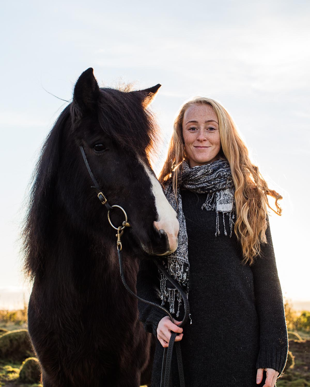 Heidi and her Icelandic horse