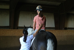 Hands on riding coaching