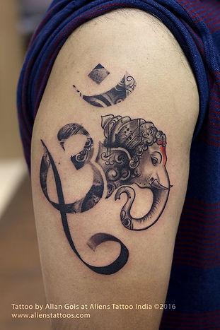 Ganesha Om Tattoo