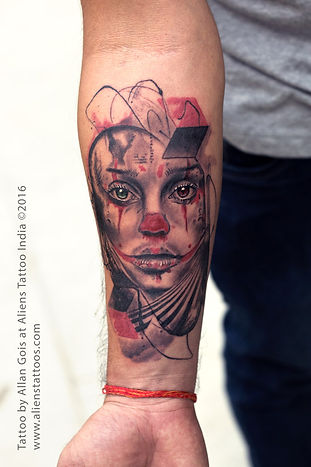 Joker Girl Tattoo
