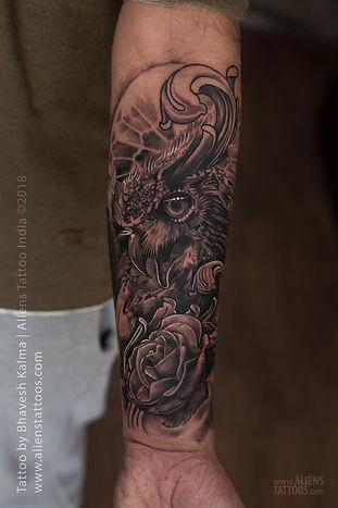 Ornamental Owl Tattoo