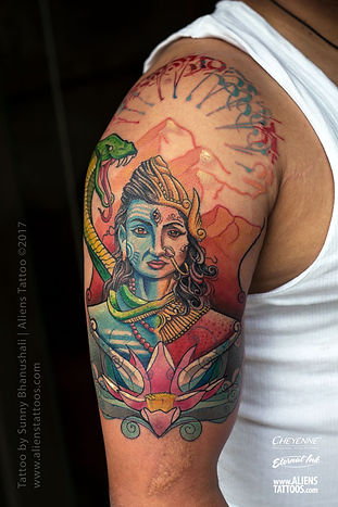 Ardhanareshwar Tattoo