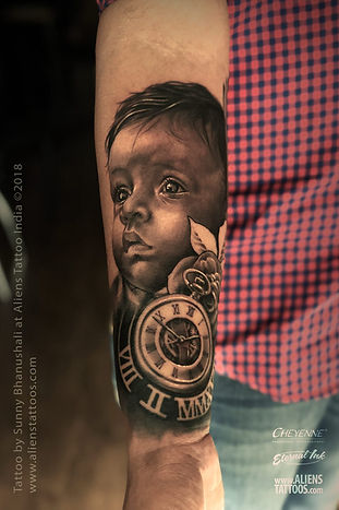 Baby Portrait Tattoo