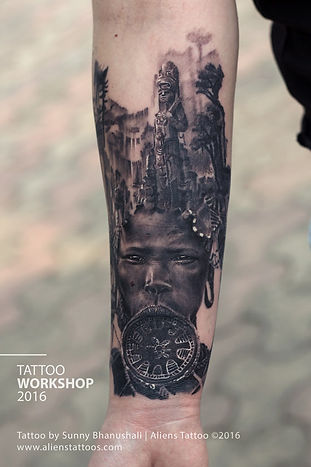 Mayan Tribe Portrait Tattoo - Workshop 2016