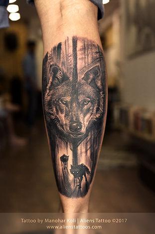 Forrest Wolf Tattoo
