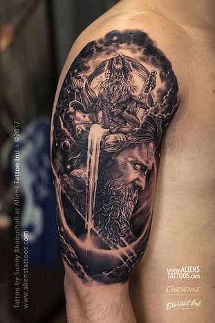 Lord Brahma Arjuna Tattoo