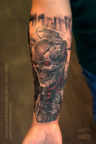 Biomech Skeleton Tattoo (Skull Tattoo)