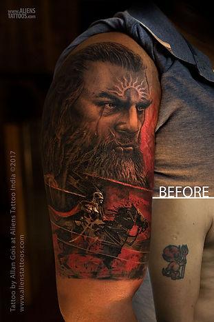 Warrior Tattoo Coverup