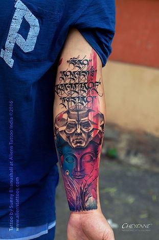 Colours Of Life - Buddha Tattoo
