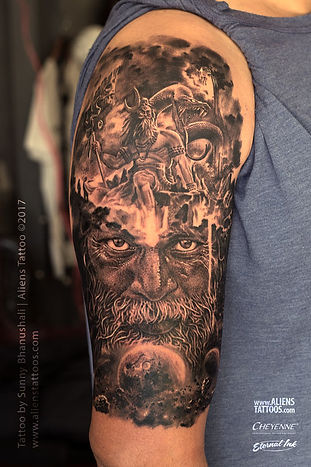 Exuberance of Lord Shiva Tattoo