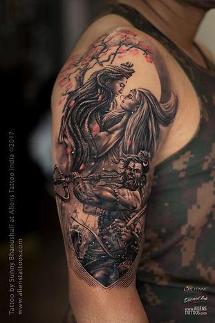 Lord Shiva Parvati Tattoo