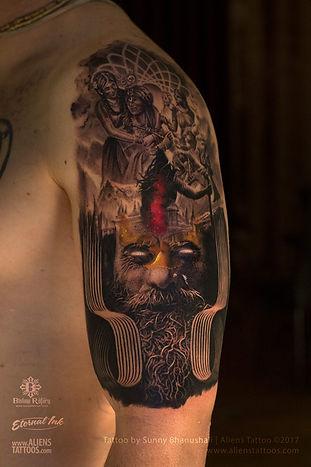 Gopisvara Lord Shiva Tattoo