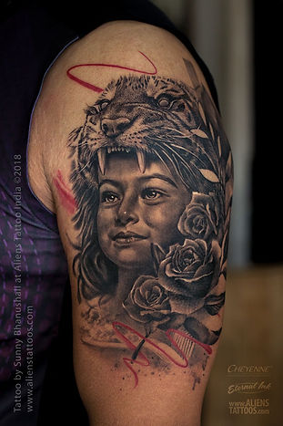 Daughter Portrait Tattoo