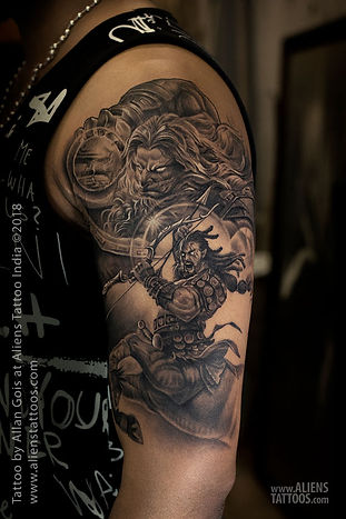 Zeus and Sagittarius Tattoo