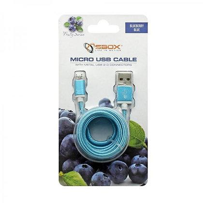 CABLE SBOX USB->MICRO USB M/M 1,5M Blister Blue